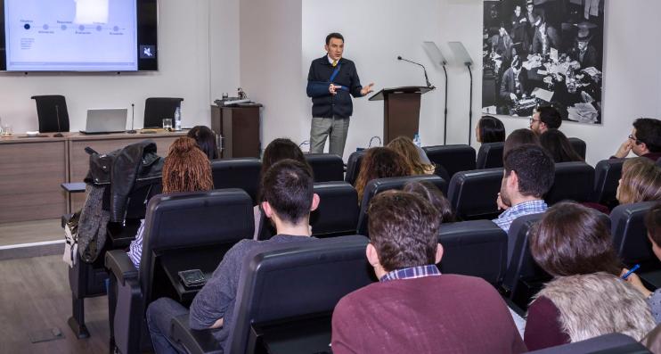 Estudio de Comunicación - Alberto Mariñas - Clase magistral a alumnos de la Universidad Complutense