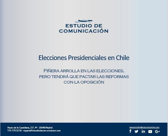 Estudio de Comunicación - informe Piñera gana las elecciones de Chile