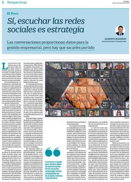 Estudio de Comunicación Alberto Marinas en Cinco Días