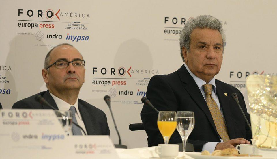 Desayuno Foro America de Estudio de Comunicación con el Presidente de Ecuador