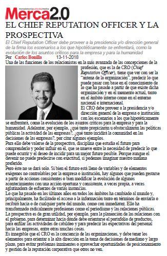 Carlos Bonilla habla sobre el CRO