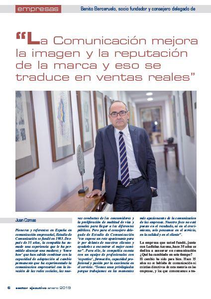 Benito Berceruelo, CEO Estudio de Comunicación