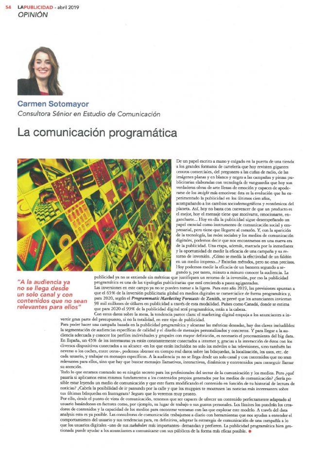 190409CLI-ESTUDIO-Artc. Carmen Sotomayor_La Publicidad