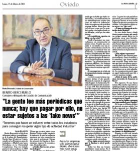 Entrevista a Benito Berceruelo en la Nueva España
